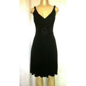 Moschino Cheap Chic Dress Black Embellished Beaded